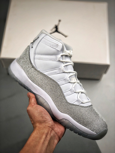 "S2纯原AJ11 Air Jordan 11 WMNS "" Metallic Silver ""  施华洛世奇 满天星 货号:AR0715-100_莆田Y3帆布鞋"