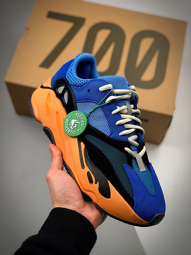 "AD Yeezy Boost 700 ""Bright Blue""   蓝橙色 货号:GZ0541_莆田鞋等级版本啥意思"