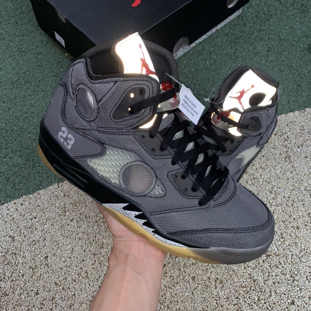 OFF-White X Air Jordan 5 OW联名AJ5解构蝉翼半透明 CT8480-001_莆田鞋ljr版本是什么意思