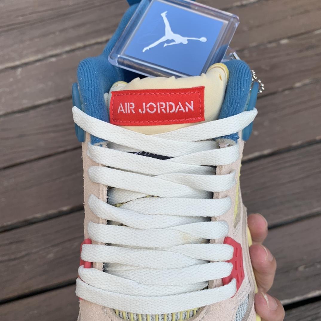 级_Air Jordan 4 x Union AJ4 联名骑士黑蓝蓝粉 DC9533-800_dt和ljr莆田