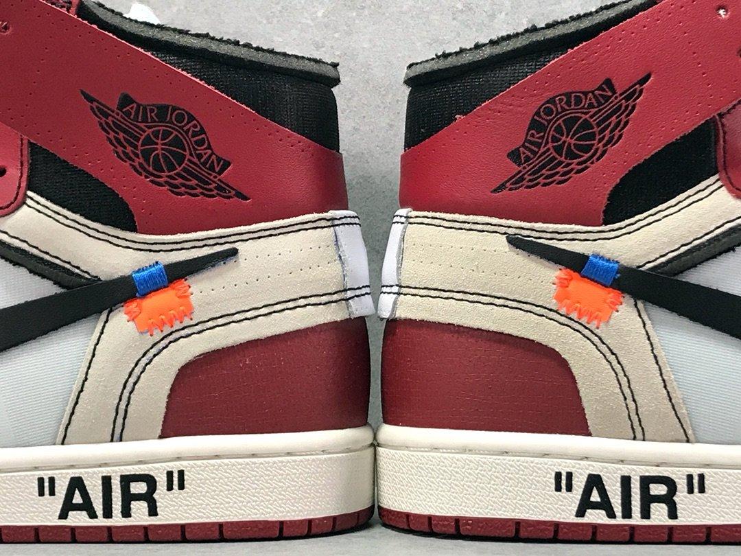 OG版乔1 OW联名 联名红 Air Jordan 1 Off White AJ1 货号AA3834-101_og毒版700
