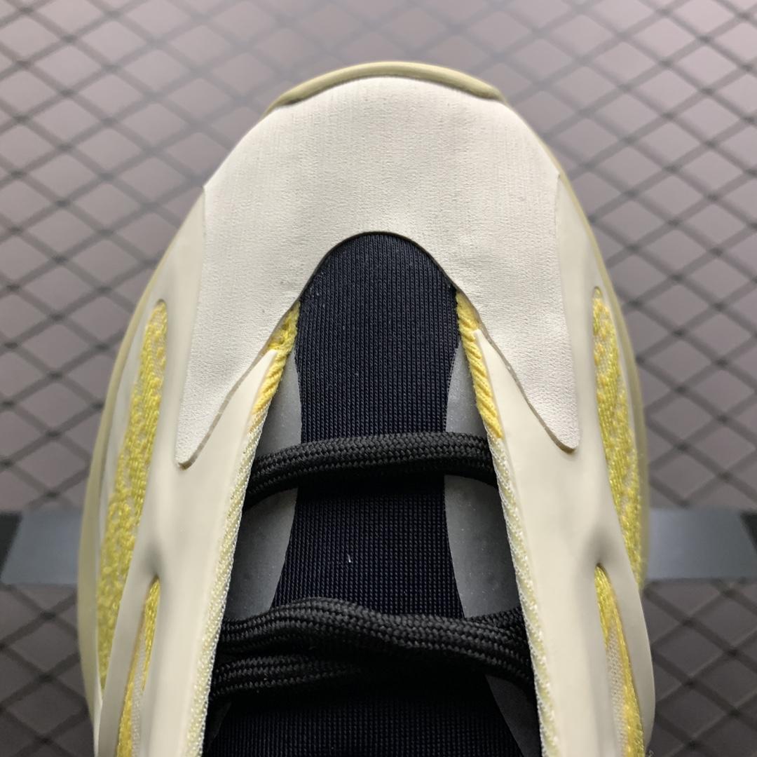 """Yeezy 700V3  """" Srphym """" 侃爷椰子夜光鞋面异型复古老爹鞋 G54853_椰子350后跟"""