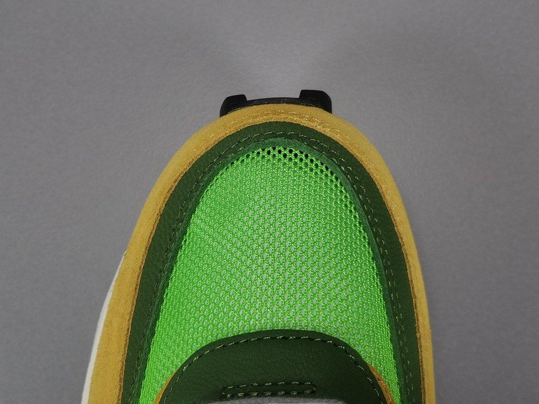 OG版_双勾黄绿 Sacai x Waffle Daybreak 联名走秀货号BV0073-300_鞋子pk版是什么