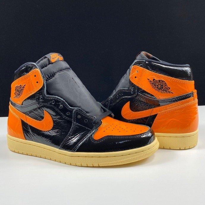 """LJR版本猪油扣碎 Air Jordan 1 Retro High OG """"Shattered Backboard 3.0"""" 新黑橙扣碎3.0配色 555088-028_莆田鞋纯原"""