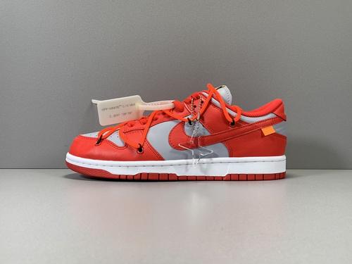 X版纯原_DUNK OW 灰红  OFF-WHITE x Nike Dunk Low,货号_CT0856-600_莆田鞋x版是什么意思