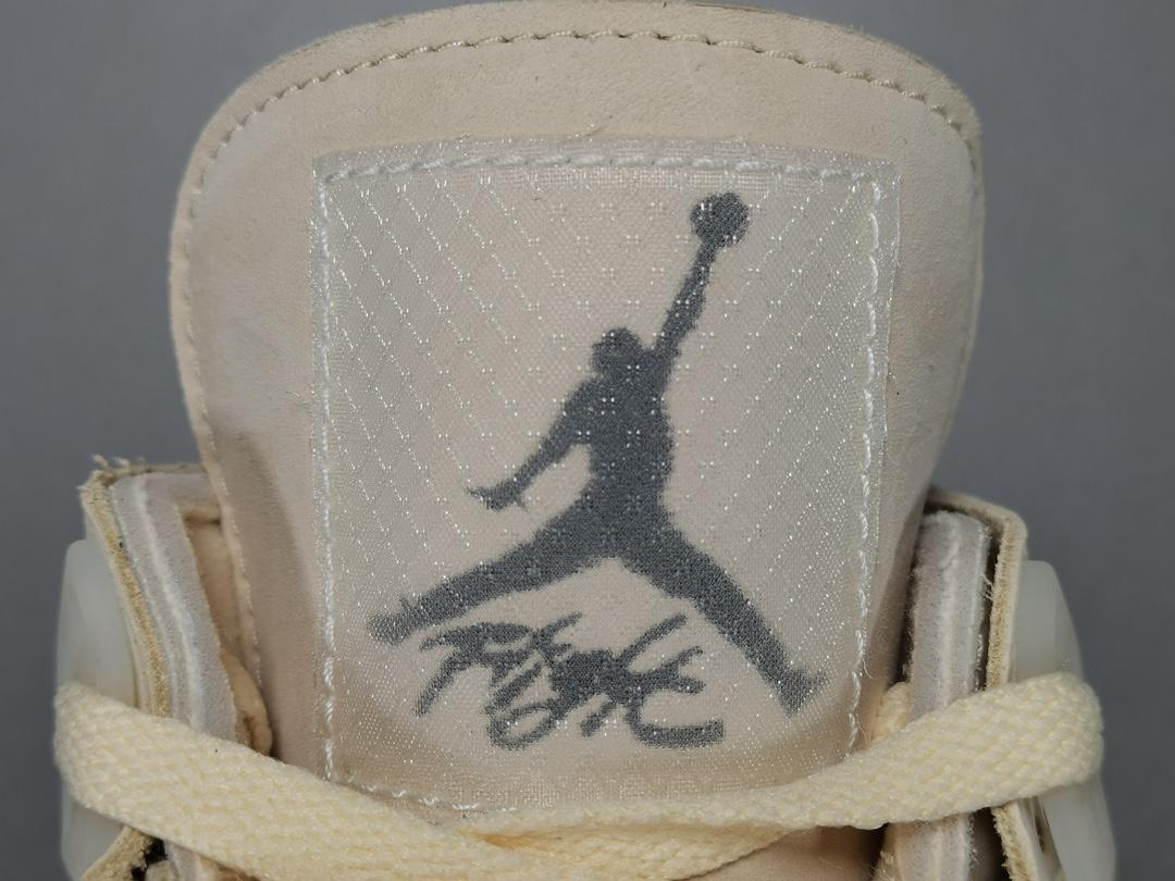 "OG版:AJ4米白  Off-White™ x Air Jordan 4   ""Cream/Sail"" OW联名,货号:CV9388-100_纯原350一般价格多少"