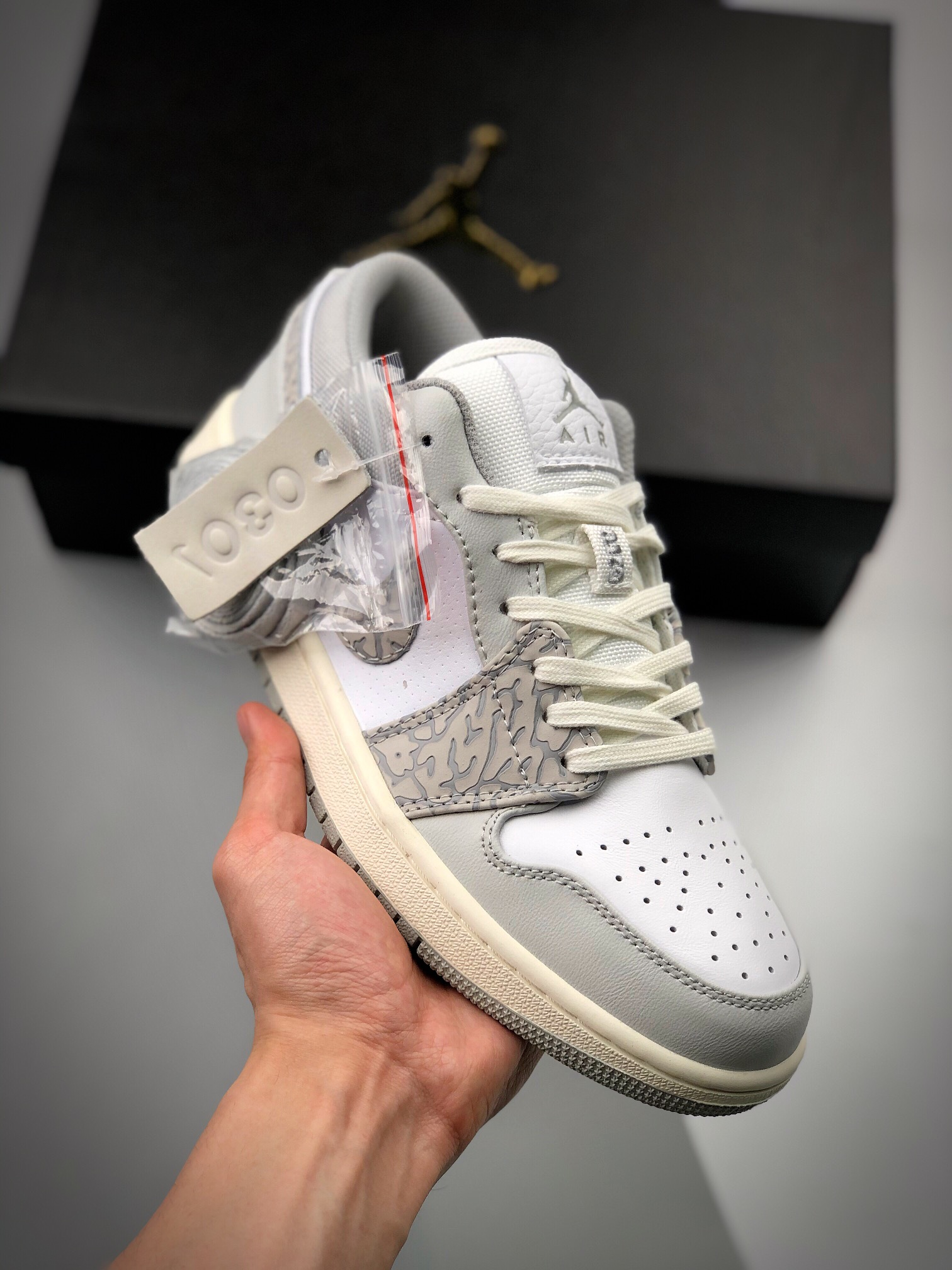 Air Jordan 1 Low 灰爆裂_s2纯原微