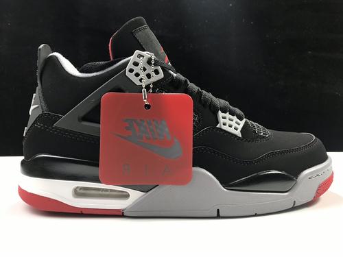 """莞L版:AJ4黑红 Air Jordan 4""""Bred"""" 2019 Black Infrared Nike 钩子屁股 黑红配色 308497-060_刘佳瑞的货怎么拿"""