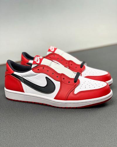 "Air Jordan 1 Low OG ""Chicago"" AJ1低帮芝加哥纯原级别 最正的鞋型 感人的皮质 最专业的低帮工厂出品 仔细看实拍 全面碾压二层皮的垃圾 尺码40.5-44.5_莆田专业y"