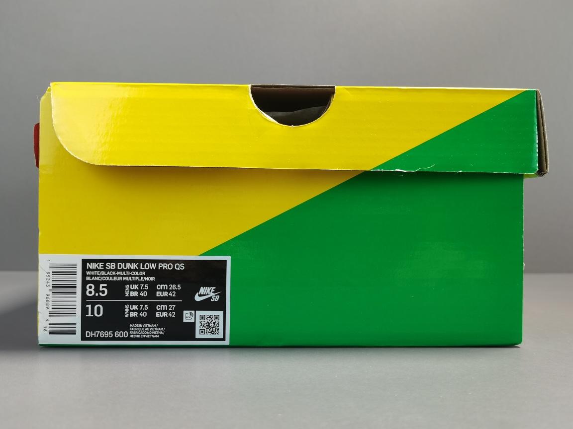 纯原版_DUNK_ 白蓝红 Parra x NIKE SB DUNK LOW 货号:DH7695-600_莆田鞋og毒版能过鉴定吗