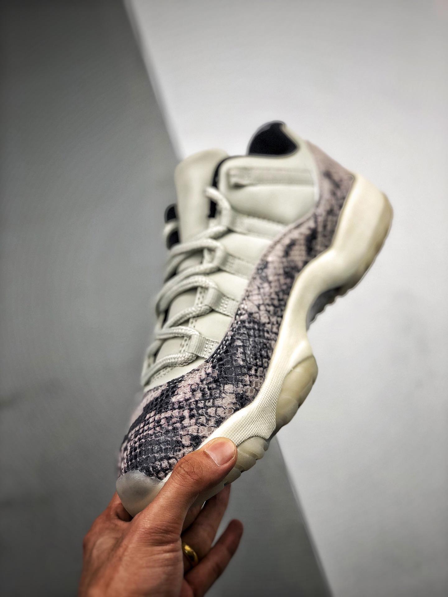 "Air Jordan 11 Low SE ""Snakeskin"" 白蛇 货号528895-145_莆田s2纯原aj13熊猫"