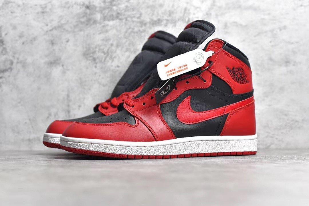"PK版_AJ1 反转黑红  乔一 Air Jordan 1 High&x27;85""Varsity Red"",货号_BQ4422-600_pk 梦工厂 又拍"