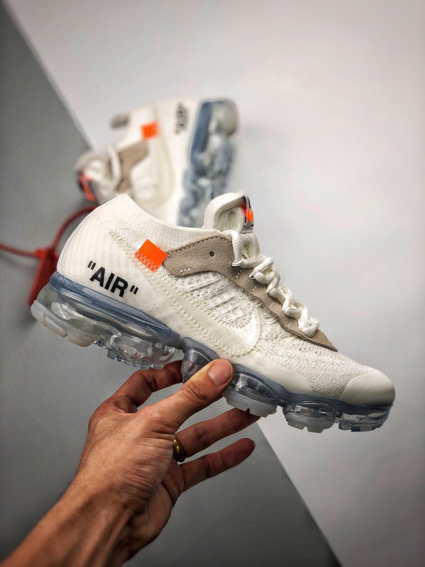 "S2纯原Virgil Abloh设计师  第二季联名 OFF-WHITE x Nike Air VaporMax 2.0二代  ""OW2.0 纯白 ""  货号:AA3831-002_s2纯原靠谱"