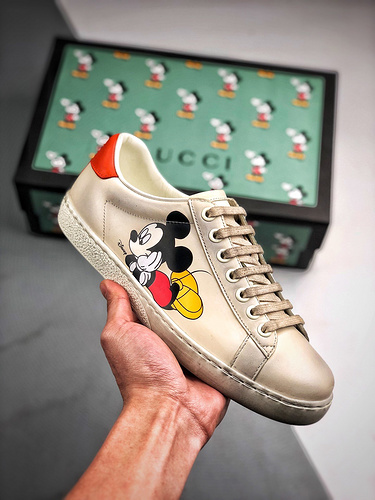 GUCCI Ace Embroidered Low-Top 迪士尼联名 米老鼠90周年限定_s2纯原h12