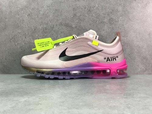 "H12纯原_97OW 彩虹 Nike Air max 97 OFFWHITE ""Black""  总耗时超过三个月,采用原档案透明大底,韩国原装网纱_h12纯原椰子500"
