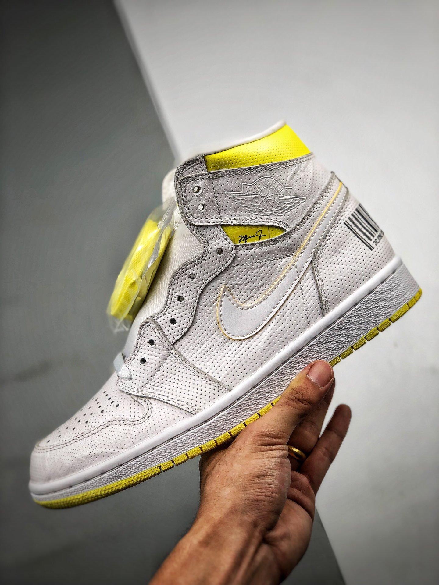 S2纯原高帮 Air Jordan 1 Retro 'First Class Flight' 条形码 - 头等舱 555088-170_s2版本的鞋怎么样