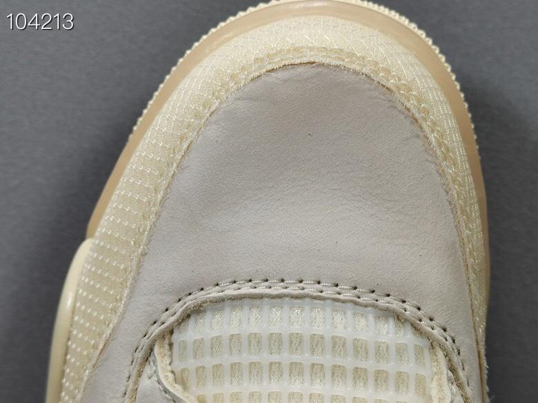 """米白  Off-White™ x Air Jordan 4   """"Cream/Sail"""" OW联名,货号:CV9388-100_椰子og版本可以过验吗"""