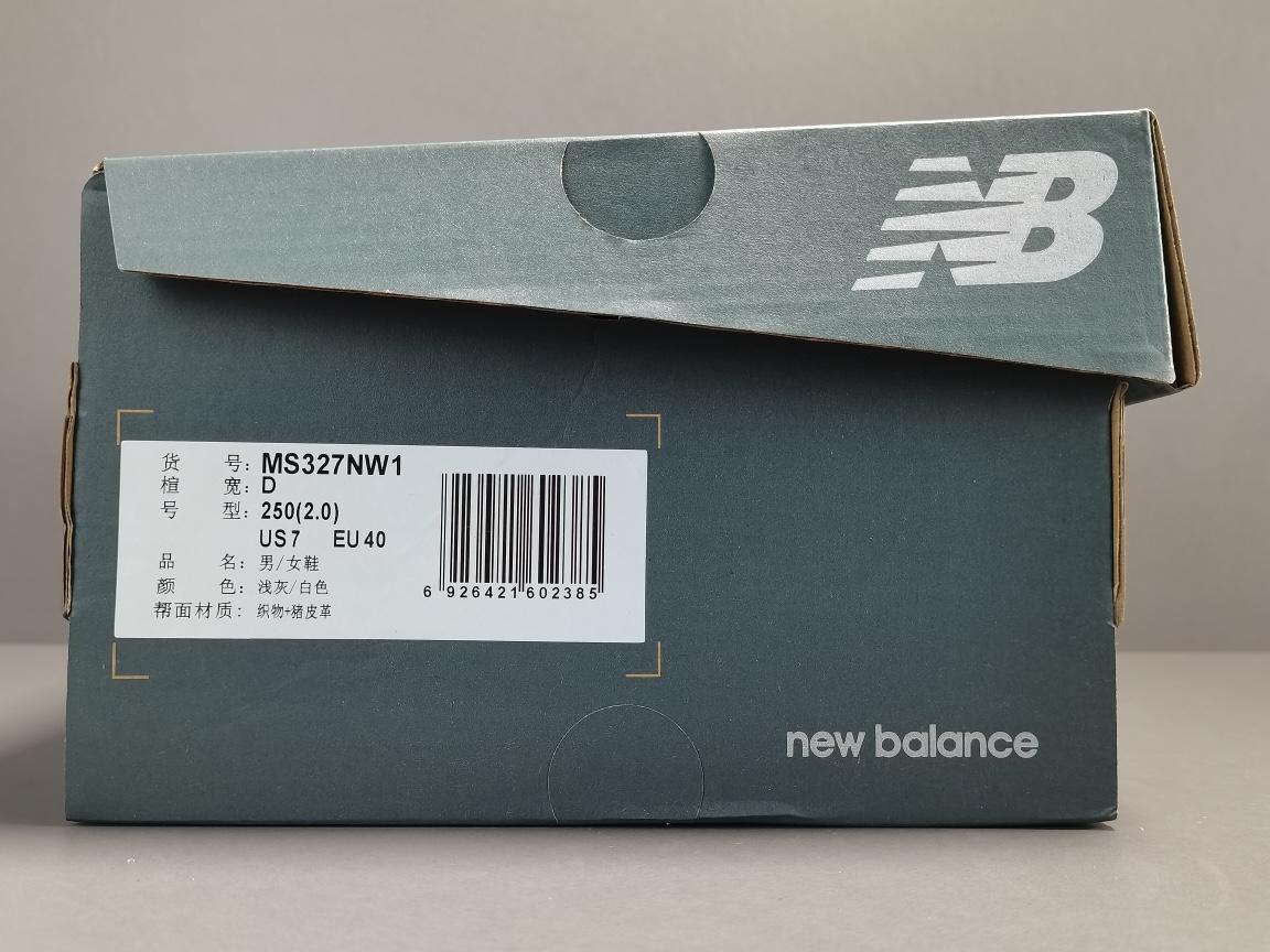 专柜版:NB327_灰白 新百伦x New Balance 327 货号:MS327NW1_椰子og扣假的