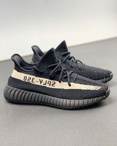 河源裸鞋椰子Yeezy 350 Boost V2 黑黄铜配色 BY1605_河源裸鞋 黑曜石
