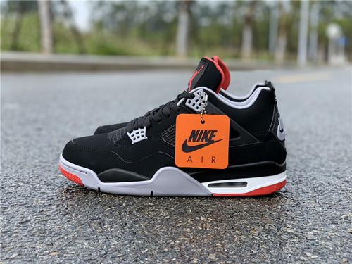 """Air Jordan 4""""Bred"""" 2019 钩子屁股 黑红配色 308497-060_莆田鞋网app"""
