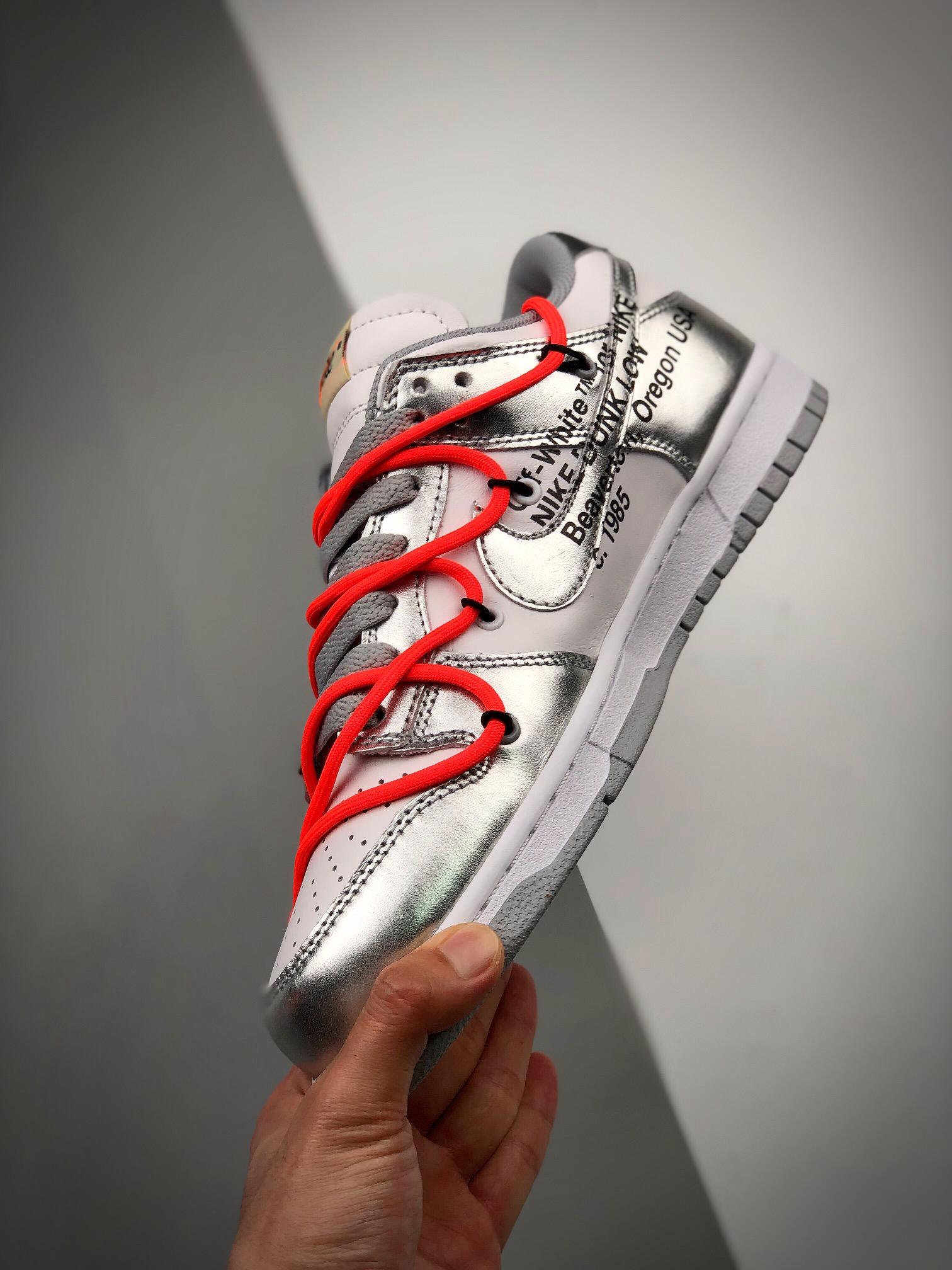Off-White x SB Dunk OW联名  电镀银配色_代工厂的鞋子可以买吗
