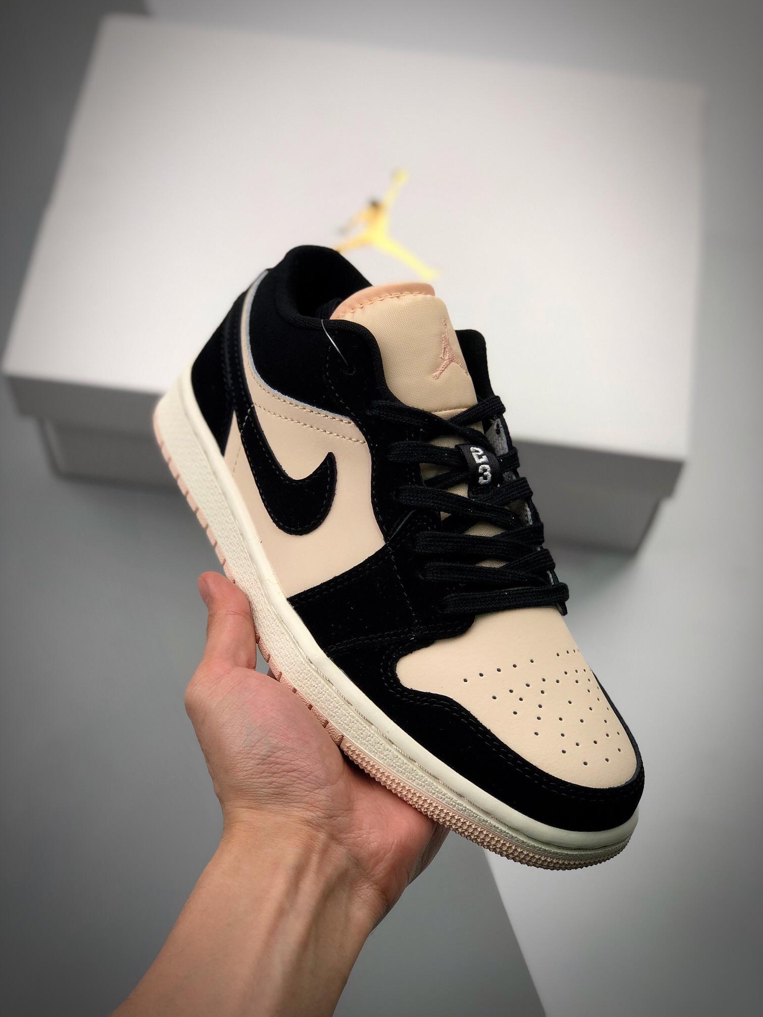 S2低帮low系列 Air Jordan 1 Low 黑粉低帮 秋天的奶茶色 货号:DC0774 003_哪里可以买到最高版本的莆田鞋