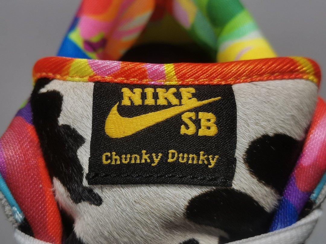 """OG工厂GS版_DUNK 奶牛 Ben & Jerry&x27;s x NK SB Dunk Low Pro QS """"Chunky Dunky""""_纯白椰子og版本"""