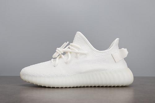 汪版老汪椰子Yeezy 350 V2 白冰淇淋 全白椰子350 纯白V2 跑鞋 CP9366_椰子350老汪版本和og哪个好