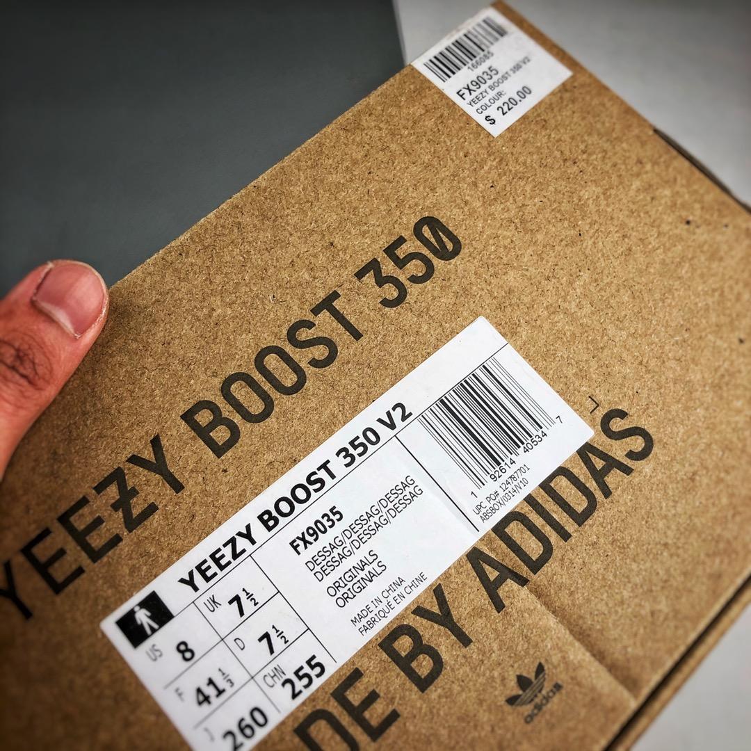 """Yeezy 350V2 """"Desert Sage""""  灰橙2.0 / 荷兰豆 侧透满天星 货号:FX9035_s2纯原的椰子350"""