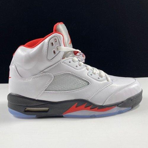 "Air Jordan Retro 5 OG""Fire Red"" 今年最值得买的OG 优选性价比版本 乔丹AJ5代复古篮球鞋 流川枫白红原色火焰红配色 DA1911-102_莆田系l"