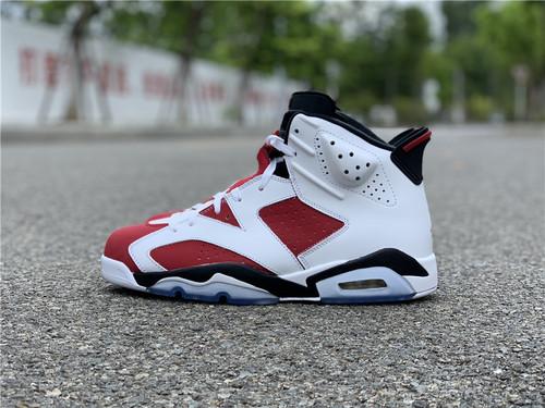 """胭脂红 Air Jordan 6 """"Carmine"""" 384664-160_莞产和正品的区别"""