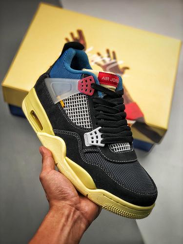 "Union LA x Air Jordan 4 Retro ""Off Noir""黑篮_s2纯原倒钩"