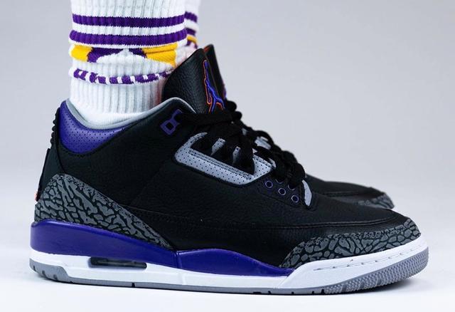 "Air Jordan 3 ""Court Purple"" 货号:CT8532-050_耐克高仿鞋批发"