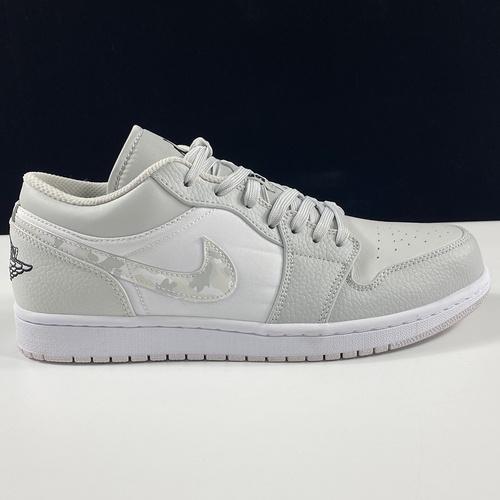 """莞顶L Air Jordan 1 Low""""White Camo""""AJ1乔丹一代低帮经典复古文化休闲运动篮球鞋""""白灰迷彩""""DC9036-100_在哪能买到ljr版本"""