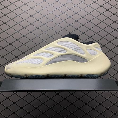 """纯原版本 Adidas 阿迪达斯 Yeezy 700V3  """" Azael"""" 侃爷椰子夜光鞋面异型复古老爹鞋 FW4980 外星人 原鞋开发 正确鞋型""""重点看后跟&quo"""