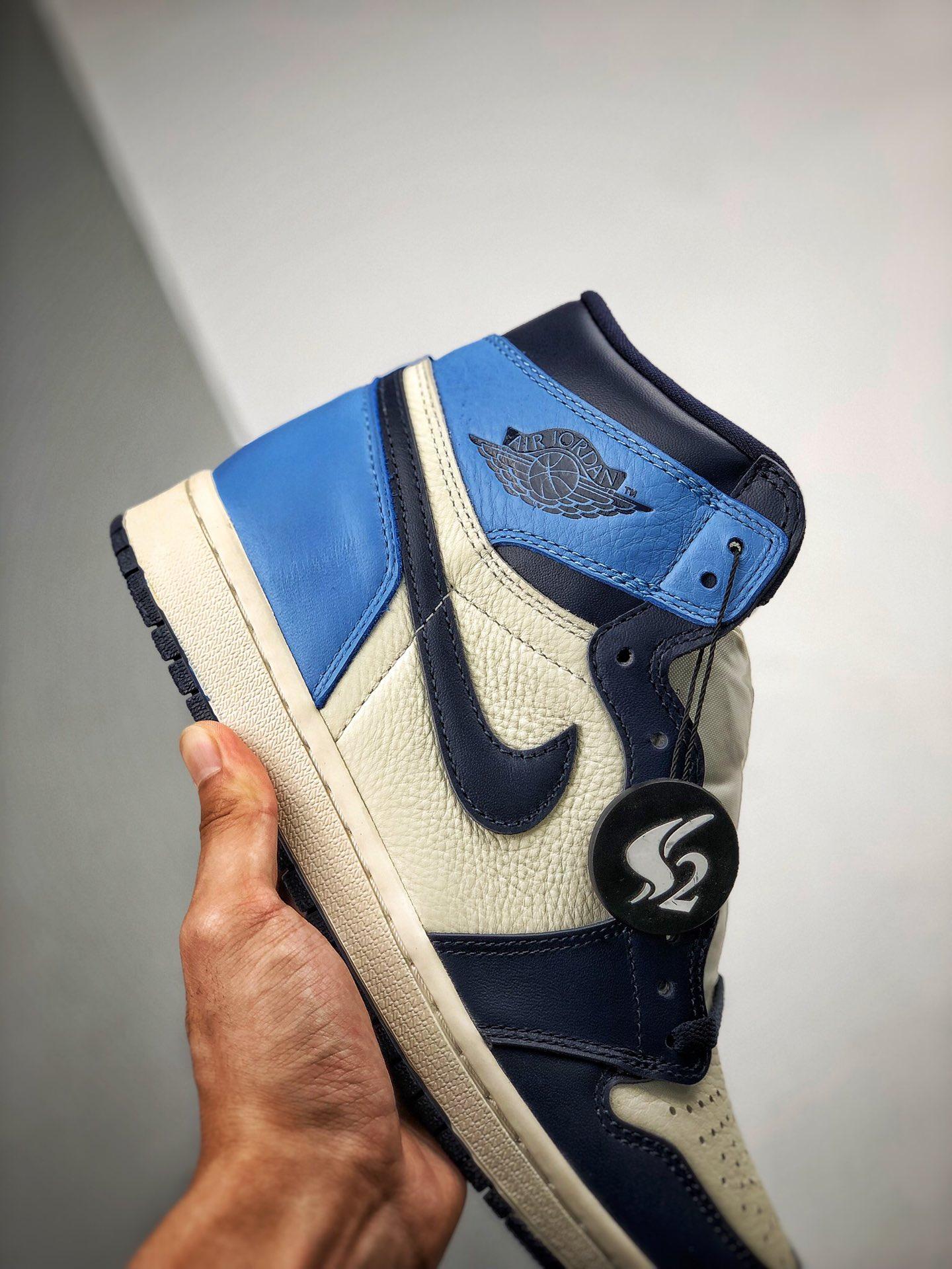 """Air Jordan 1 Retro """"Obsidian"""" 北卡蓝 / 黑曜石 货号:555088-140_鞋子s2版本是什么意思"""