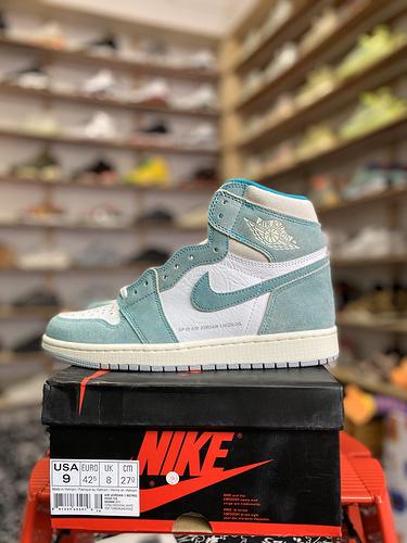 """Air Jordan 1 """" Turbo Green """" AJ1乔1 蒂芙尼  弹幕麂皮 货号:555088-311_aj11兔八哥特供版"""