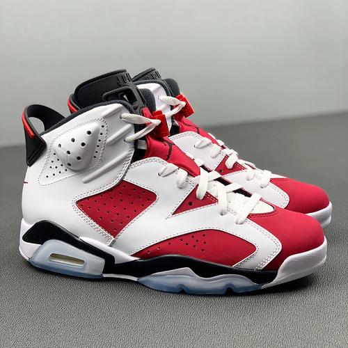 """Y3  Air Jordan""""Carmine""""AJ6 乔6胭脂白红 2021高帮篮球鞋 CT8529-106_AJ1河源裸鞋"""
