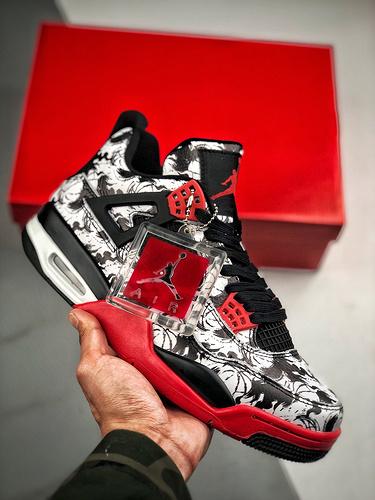 "Air Jordan 4 ""Tattoo""   黑白涂鸦 - 中国素_s2纯原可以用吗"