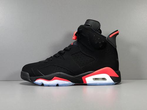 "GOD神版_AJ6 黑红 Air Jordan 6 ""Black Infrared"" 2019版本_巴黎世家莆田god意产版"
