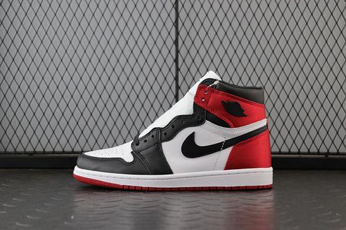 """Air Jordan AJ1 Satin WMNS""""Black Toe"""" AJ1经典乔1丝绸黑脚趾 CD0461-016_H12版本椰子"""