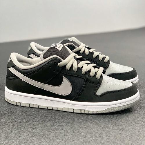 Nike Dunk SB Low Pro 经典Shadow配色加身 扣篮系列低帮经典百搭休闲运动板鞋 黑灰影子配色 BQ6817-007_河源裸鞋和ljr哪个好
