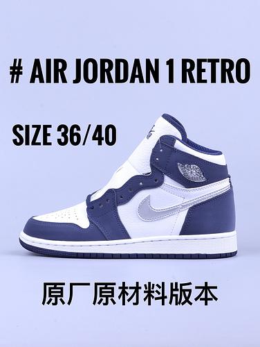 "Air Jordan 1 系列 ""日本限定 深蓝白""女鞋_yeezy GT毒版对比GT"