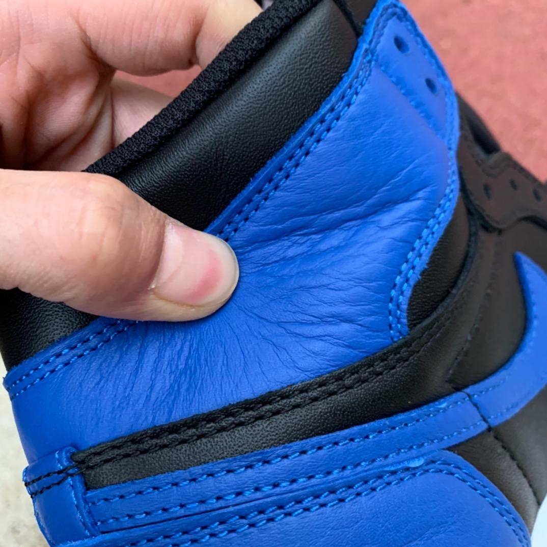 LJR出品-aj1皇家蓝-Air Jordan 1 Retro High AJ1 黑蓝 皇家蓝 555088-007_ljr版本700