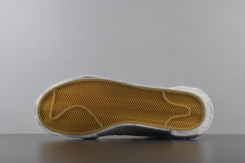 Top版本 Sacai X Blazer Mid 灰白 BV0072-100_G5家椰子