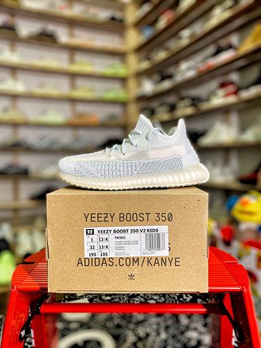 """冰白满天星 货号:FW3051 Yeezy 350v2 """"童鞋_aj1特供版和纯原版区别"""