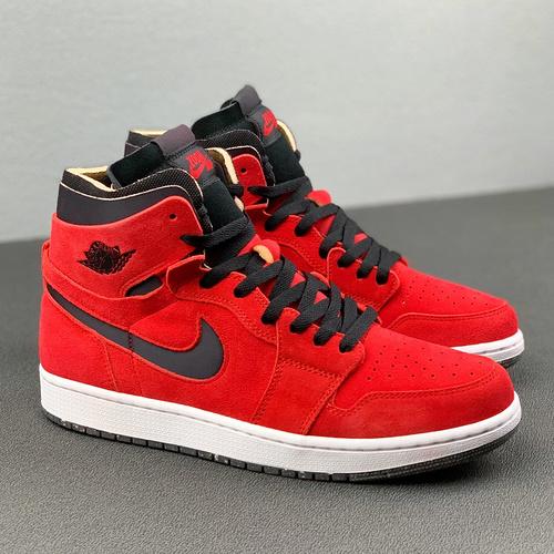 Air Air Jordan 1 High Zoom               货号:CT0978-600   乔1高帮红黑_怎么辨别河源裸鞋