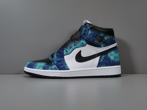 【OG版:AJ1  】 扎染   Air Jordan 1  Retro High OG ,货号:CD0461-100_og椰子鞋