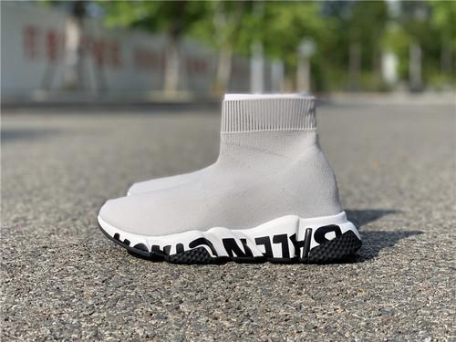 巴黎世家袜子鞋,灰白黑字母,全码 35--45_莆田鞋去哪个平台买