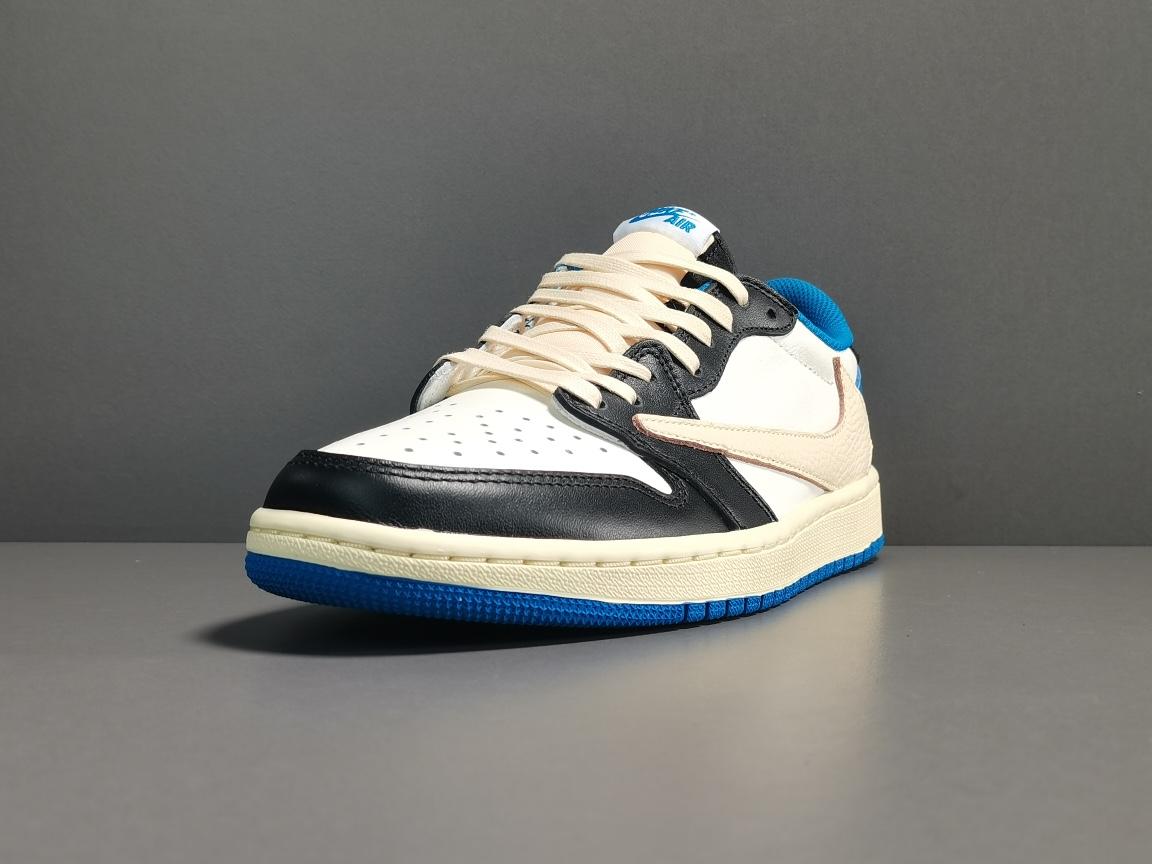 "OG版_乔1_白蓝 Travis Scott Fragment X Air Jordan 1 High OG""Military Blue""闪电 倒钩低帮   货号:DM7866-140_og椰子一般多少钱"